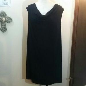 PLUS SIZE Fashion Bug Sleeveless Black Dress